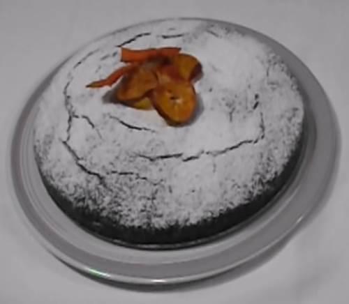 torta cioccolato senza uova finita