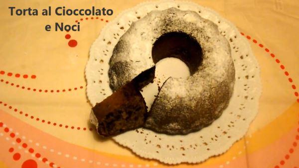ricetta torta cioccolato noci